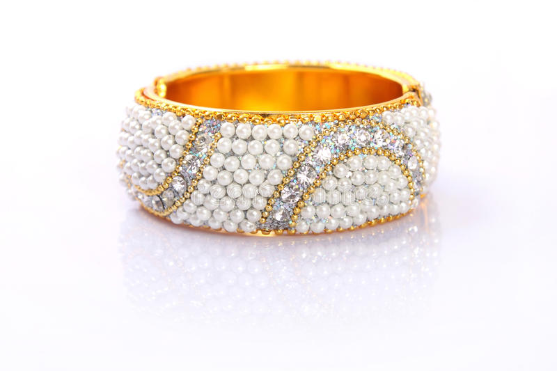 Download Indian Traditional Gold Bangle With Beads Royalty Free Stock Photos - Image: 18382478