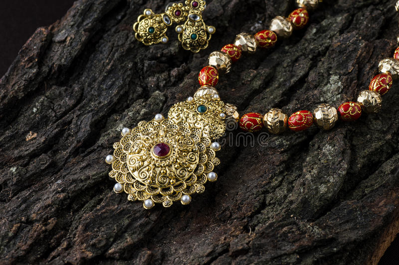 Indian Traditional Jewellery stock image