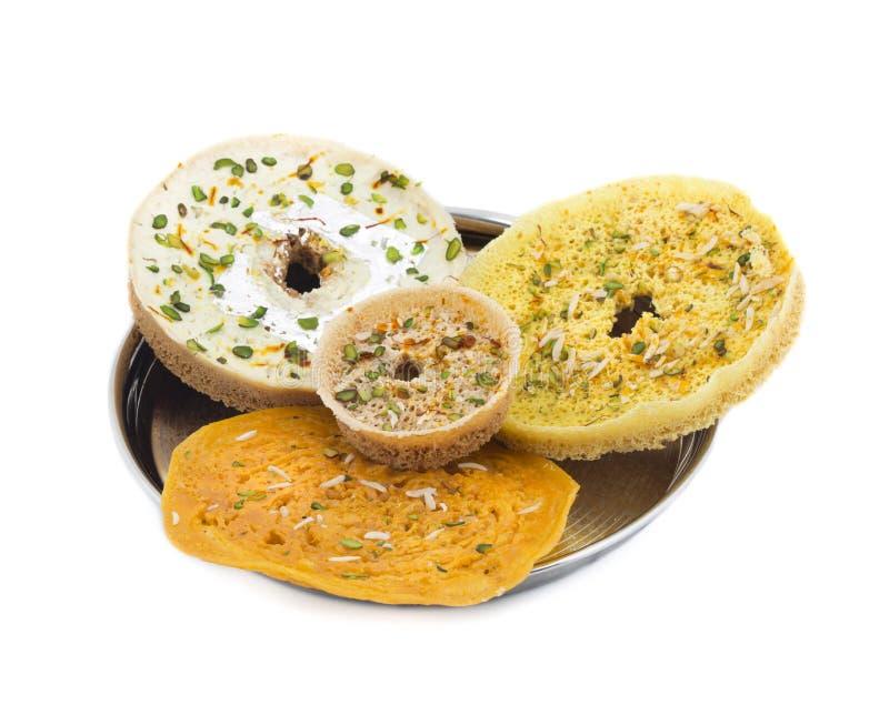 Ghewar Sweet food stock images