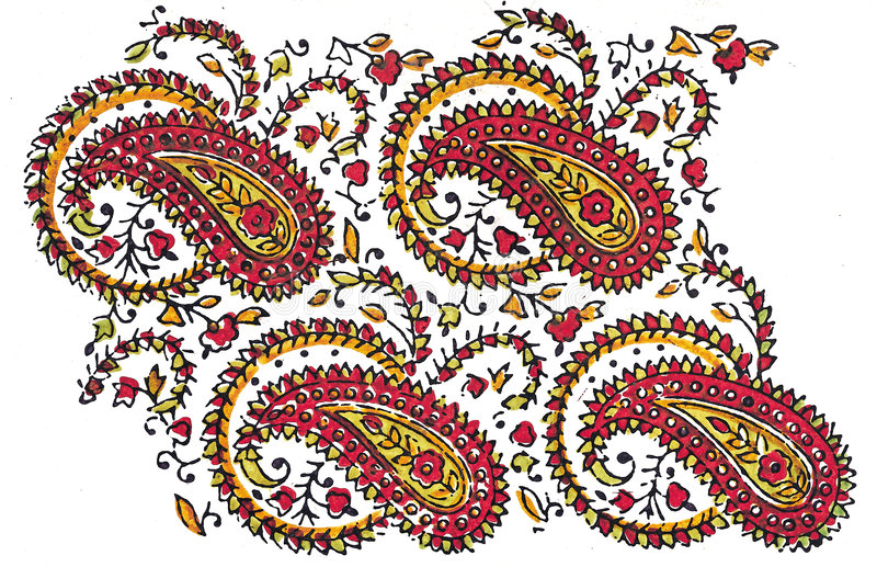 Indian Traditional Textile design royalty free illustration