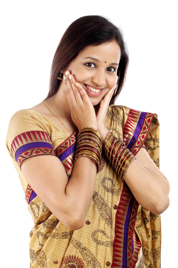 Indian traditional woman royalty free stock photos