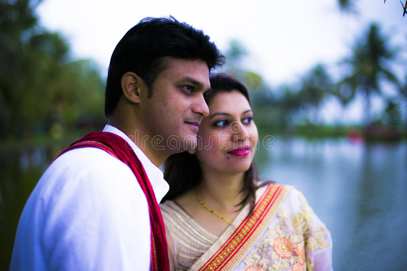 Indian Traditional Young Couple married royalty free stock photos