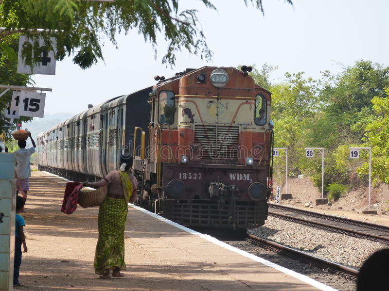 Indian train stock images