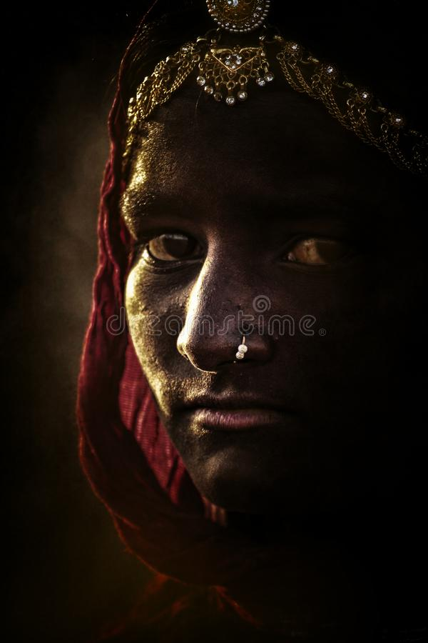 Free Indian Tribal Girl From Pushkar Stock Images - 113252164
