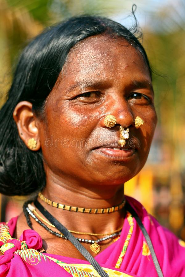 An Indian tribal lady stock photography