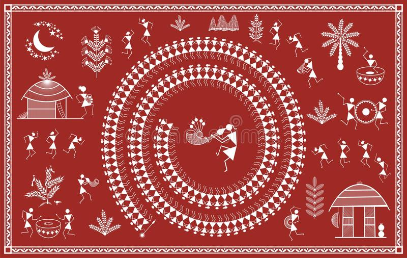 Indian tribal painting warli painting stock illustration download indian tribal painting warli painting stock illustration illustration of animals cooking thecheapjerseys Gallery