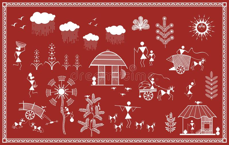 Indian tribal painting warli painting stock illustration download indian tribal painting warli painting stock illustration illustration of animals figure thecheapjerseys Gallery