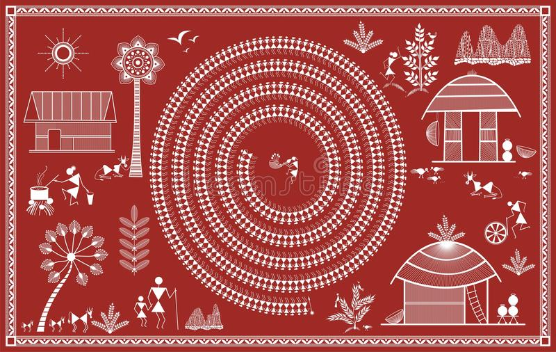 Indian tribal painting warli painting stock illustration download indian tribal painting warli painting stock illustration illustration of farmers bale thecheapjerseys Gallery