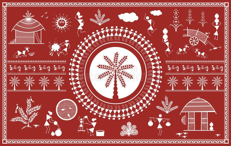 Indian tribal painting warli painting stock illustration download indian tribal painting warli painting stock illustration illustration of dahanu crowd thecheapjerseys Gallery