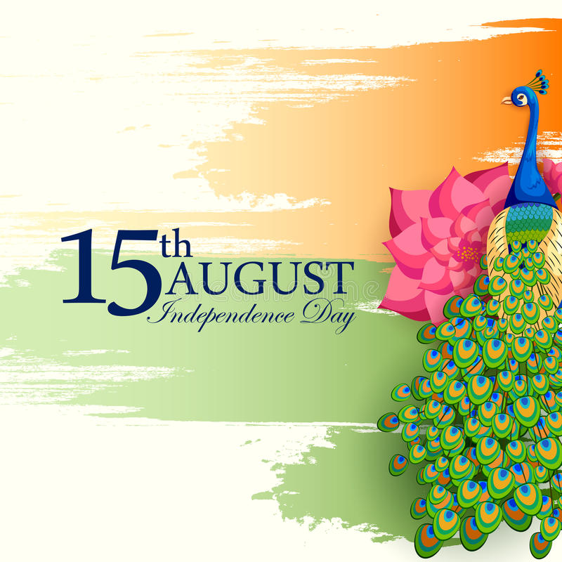 Indian tricolor background for 15th August Happy Independence Day of India royalty free illustration