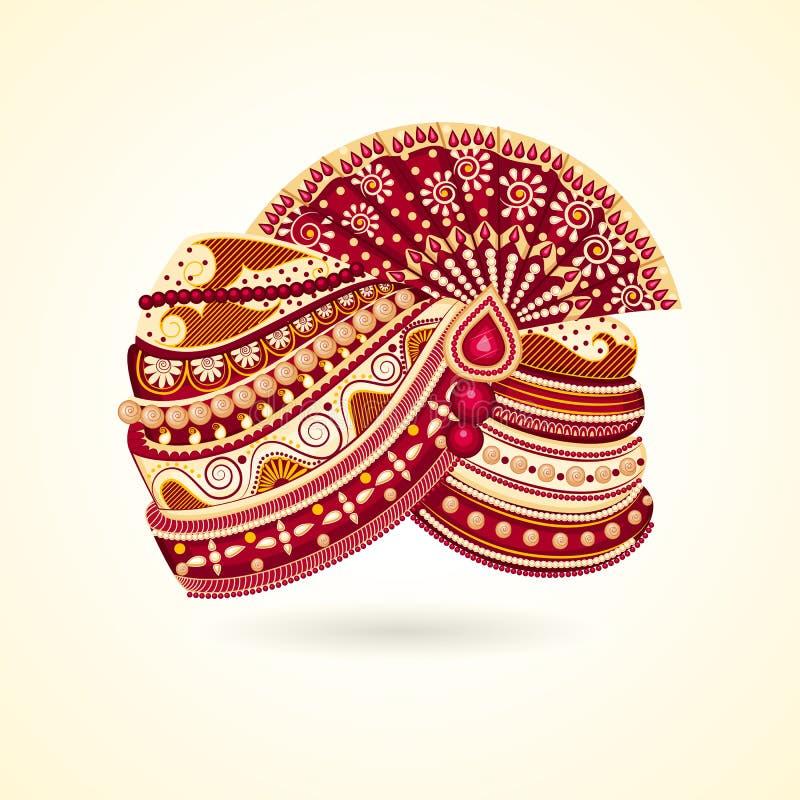 Indian Turabn stock illustration
