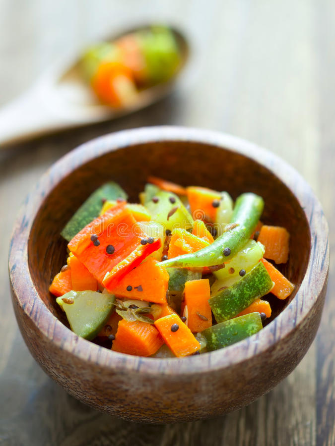 Indian vegetable medley stock image