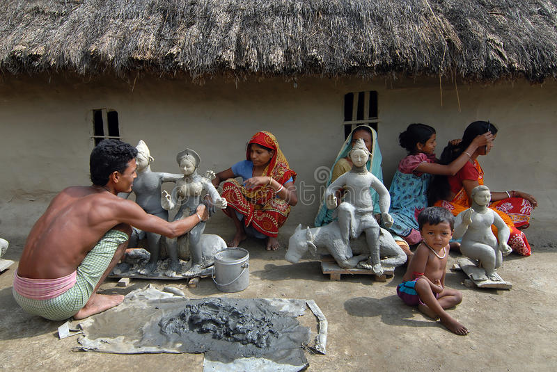 Download Indian Village editorial stock photo. Image of idol, family - 26785283