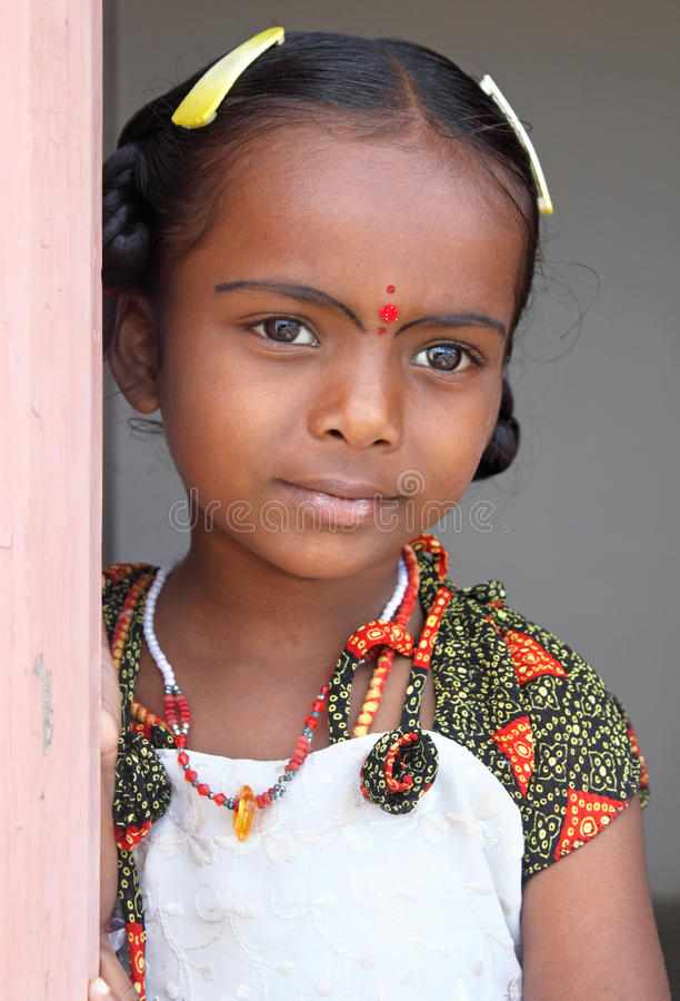 Indian Village Little Girl Stock Photos - Image 19306123-7133