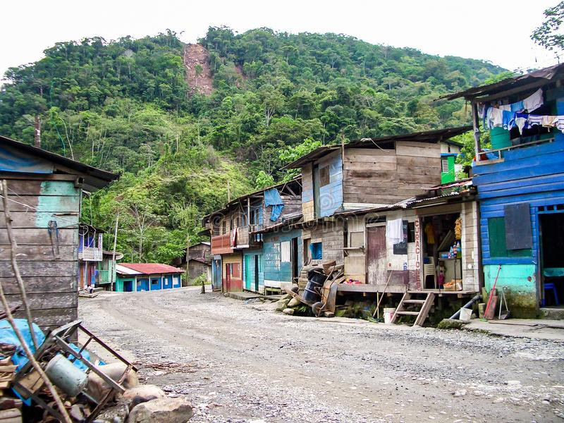 Indian village in peru stock photos