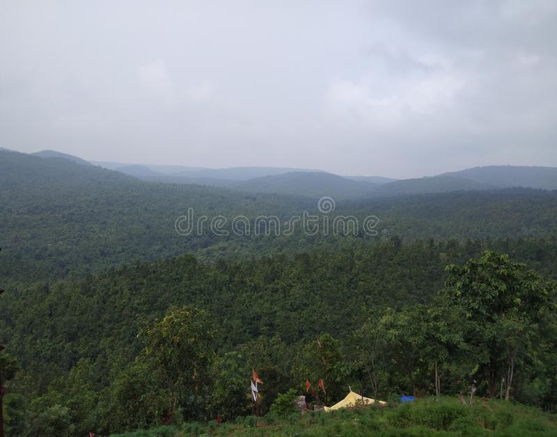 Indian scenery beautiful place real nature stock image