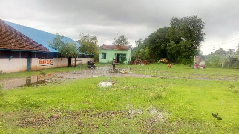 Indian Village School stock photo