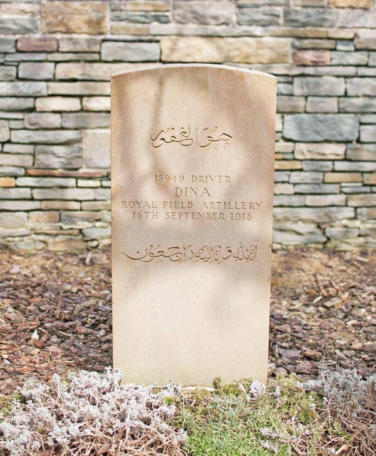 Indian War Grave WWI