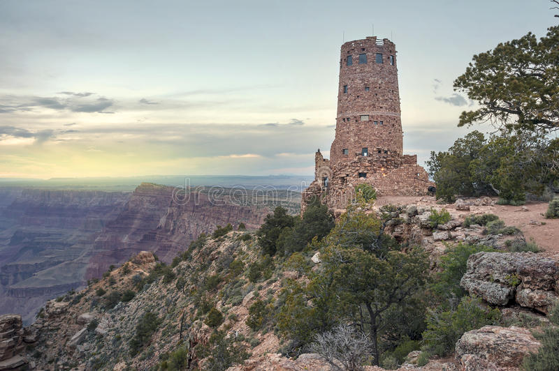 Indian Watchtower at Desert View Point royalty free stock photography
