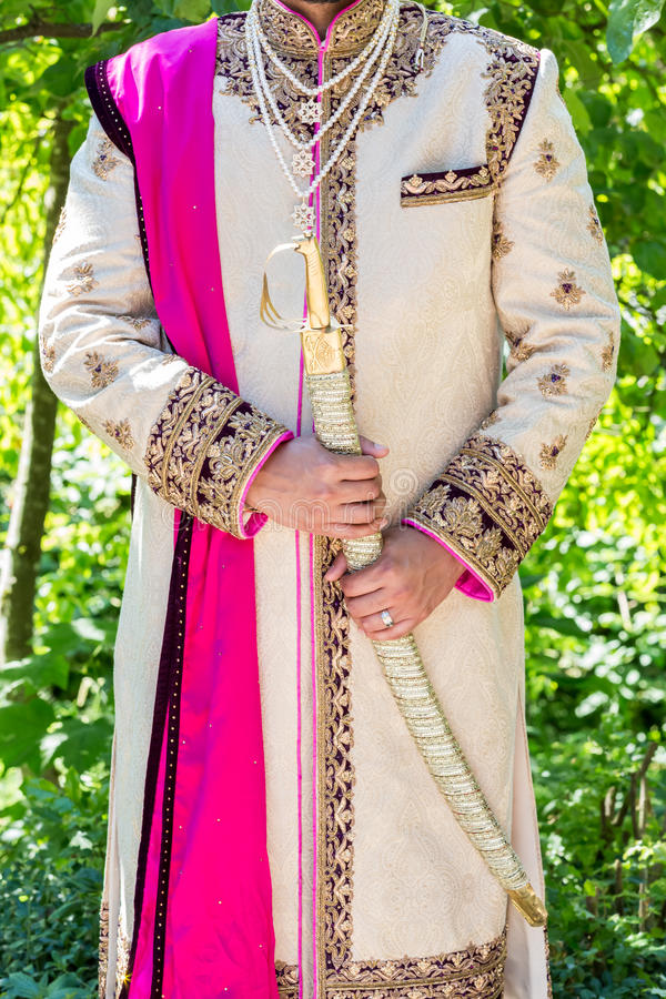 Indian wedding. Ceremony, temple, bride and groom stock photos