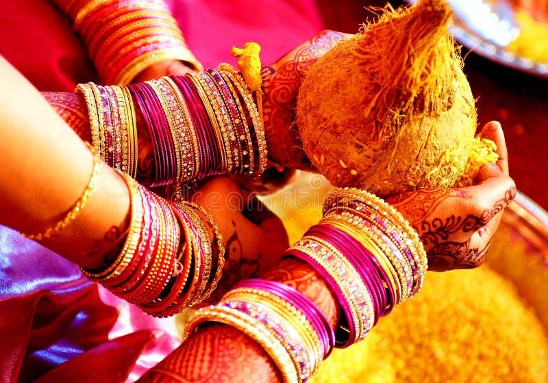 Indian Wedding. Closeup shot on Indian Wedding Ceremony stock image