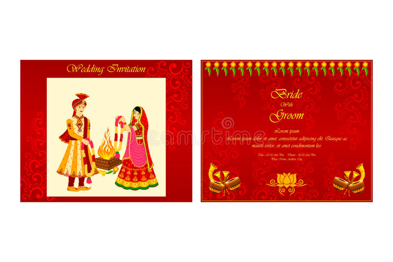 Indian wedding invitation card stock vector illustration of download indian wedding invitation card stock vector illustration of hinduism illustration 48581645 stopboris Gallery