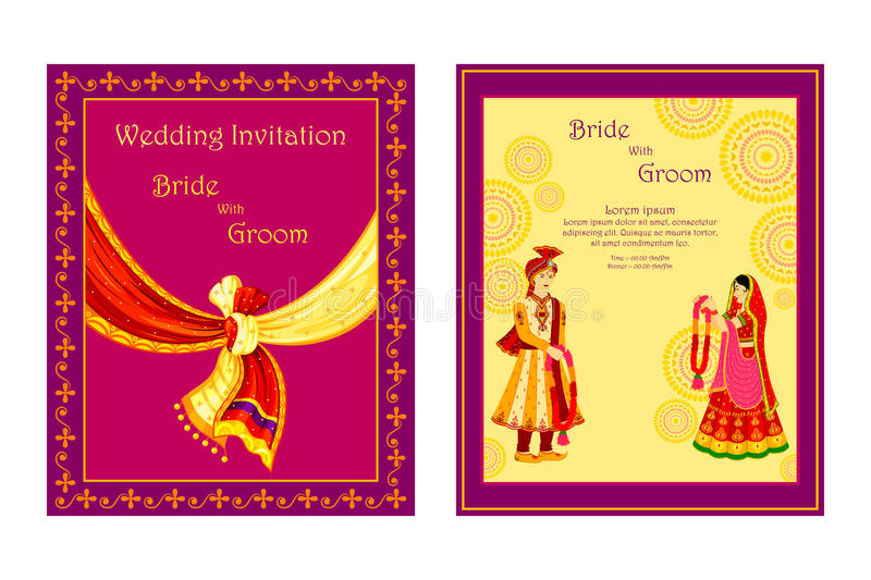 Download Indian Wedding Invitation Card Stock Vector   Illustration Of  Greeting, Concept: 48581700
