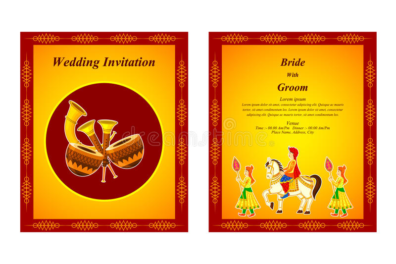 Indian wedding invitation card stock vector illustration of hindu download indian wedding invitation card stock vector illustration of hindu ceremony 48582428 stopboris Choice Image