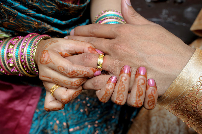 Indian Wedding. South Asian weddings are very filled with ritual and celebration that continue for several days. Generally anywhere between 100 to 10,000 people stock photo