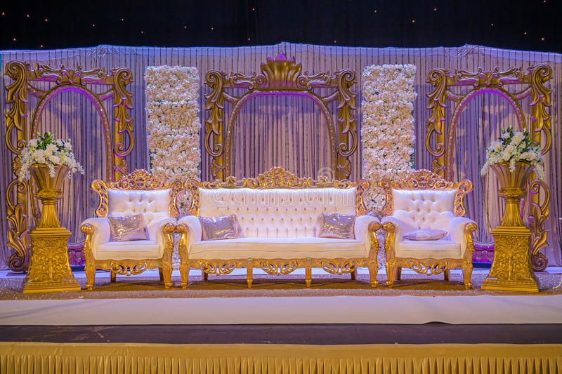 Indian wedding stage stock photography