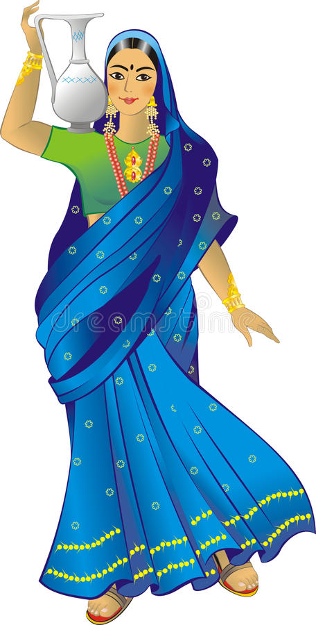Indian_woman ilustração royalty free