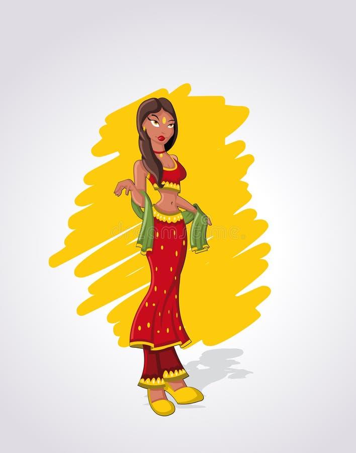 Download Indian woman stock vector. Illustration of heel, body - 22666018