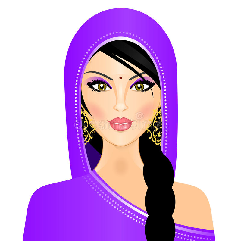 Download Indian woman stock vector. Image of girl, accessories - 23804507