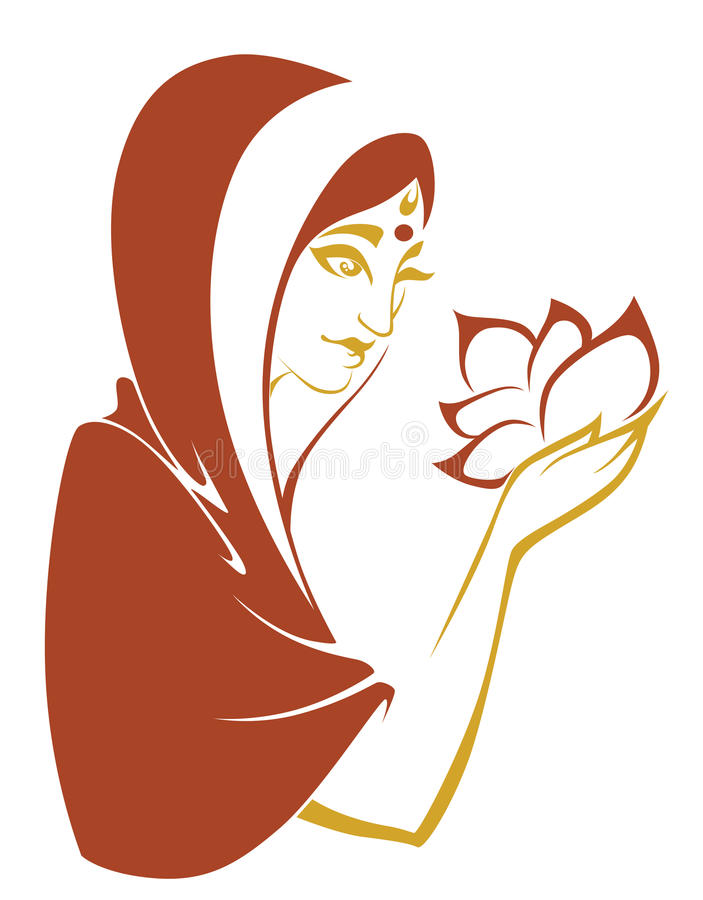 Indian woman royalty free illustration