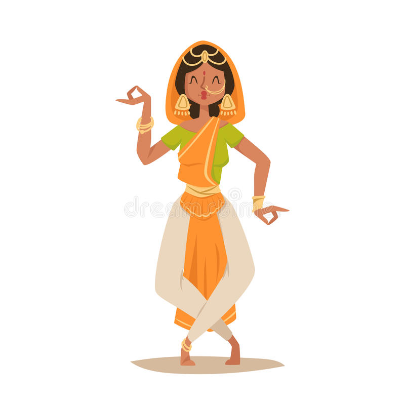 Crowd Of Indian Women Vector Avatars Stock Vector: Indian Woman Dancing Vector Isolated Dancers Silhouette
