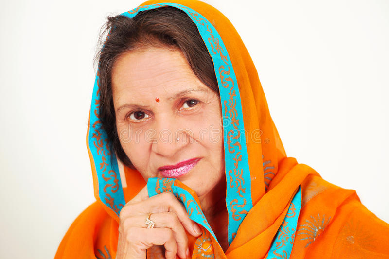 Download Indian Woman Face In Sari Stock Photo - Image: 20031600