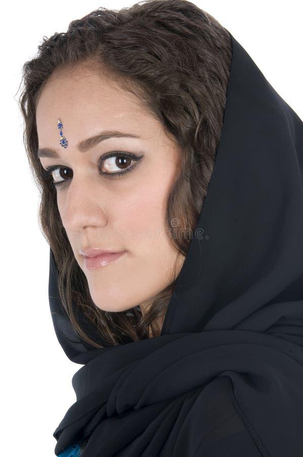 Download Indian woman with sari stock photo. Image of arabian - 12863568