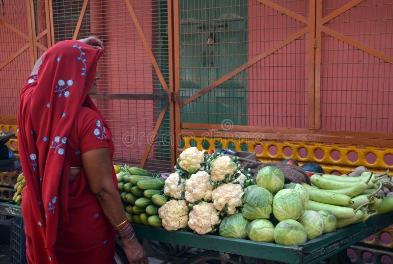 Indian woman in sari stock photos