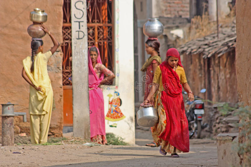 Indian Woman Walking Editorial Photo