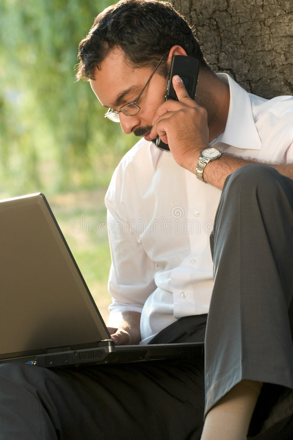 Indian working outdoors royalty free stock photos