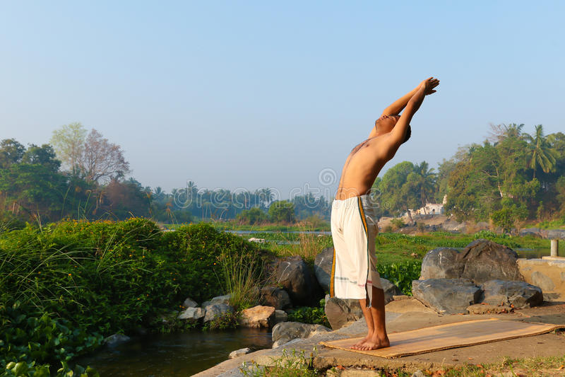 Indian Yogi stock image