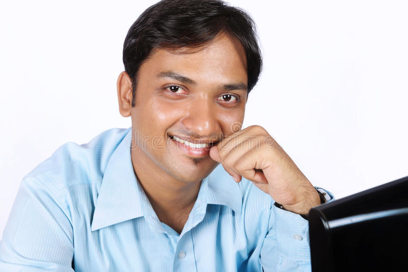 Indian Young Business Man royalty free stock photography