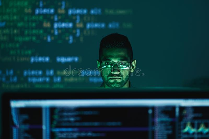 Concentrated on work royalty free stock image