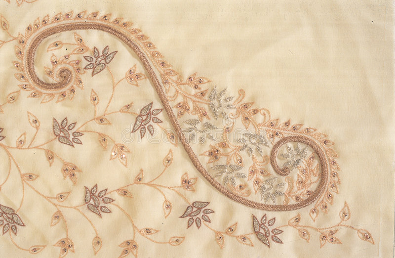Indian Zardozi Embroidery Work. Its a Indian Zardozi Embroidery Work Sample, done by the master embroiders of India stock images