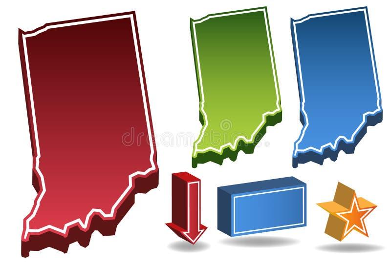 Indiana 3D lizenzfreie abbildung