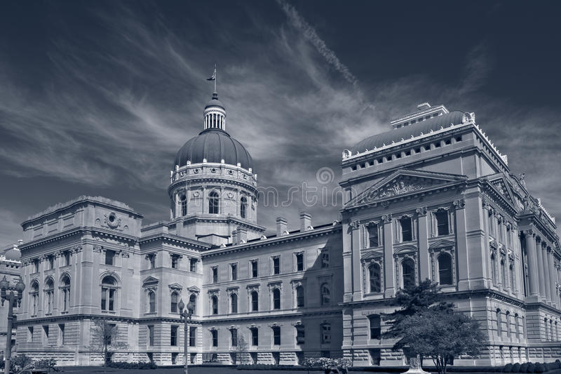 Indiana Capitol Building. Toned image of the Indiana Capitol Building royalty free stock photo