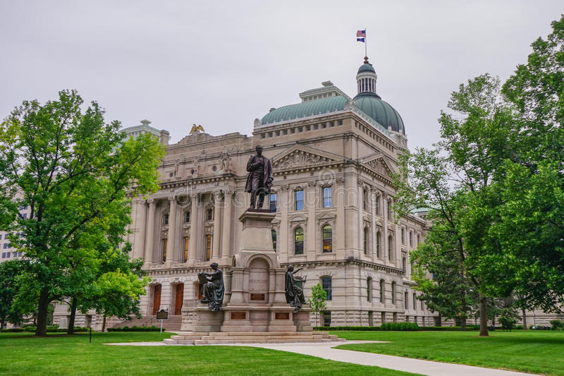 Indiana Capitol Building lizenzfreie stockfotos
