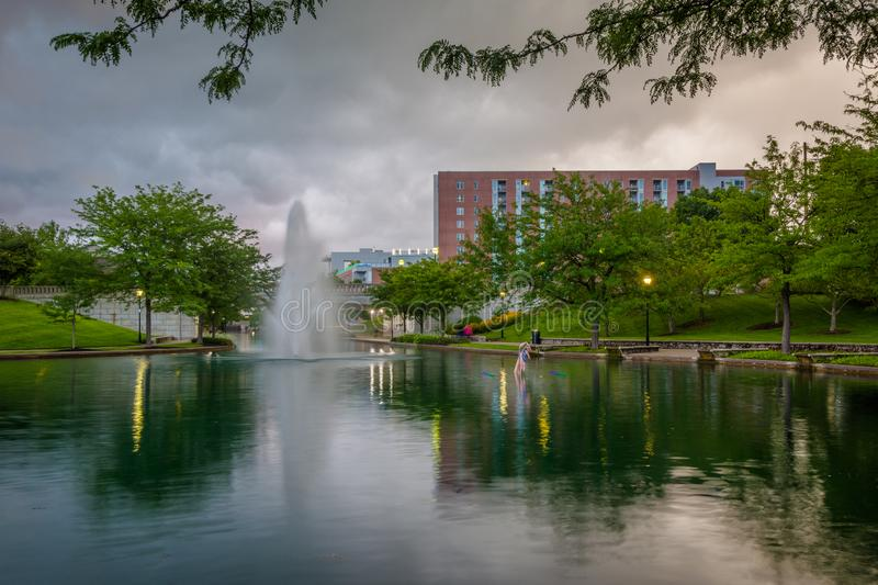 The Indiana Central Canal in Indianapolis, Indiana.  royalty free stock photos