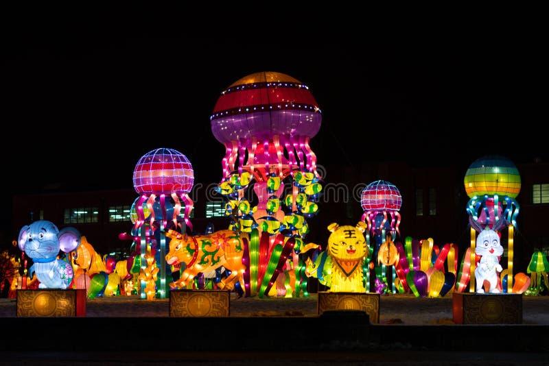 Indiana Chinese Lantern Festival immagini stock