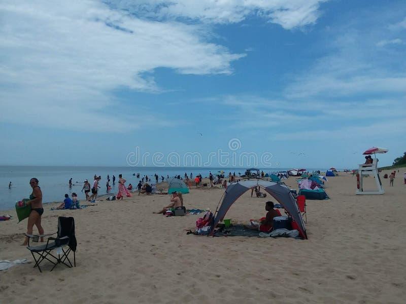 Indiana Dunes Beach fotografia de stock royalty free
